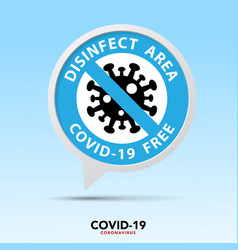 covid19 free zone signeps10 vector image