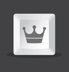 crown key computer vector image