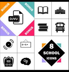 Djvu computer symbol vector