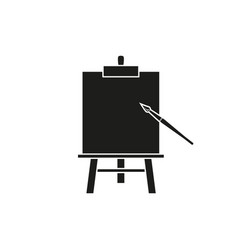 easel art black icons vector image