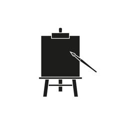 Easel art black icons vector