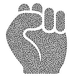 fist mosaic of small circles vector image