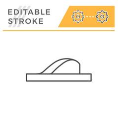 Flip flop editable stroke line outline icon vector