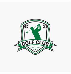 golf club badge logo-5 vector image