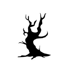 halloween creepy tree icon vector image