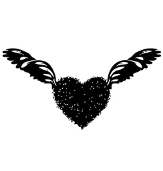 Heart wing 02 vector