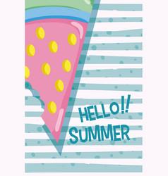 Hello summer concept vector