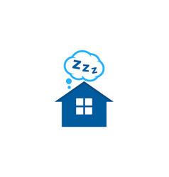 home sleep logo icon design vector image