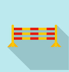 Horse jump obstacle icon flat style vector