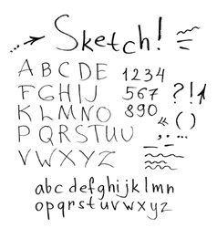ink stroke font vector image