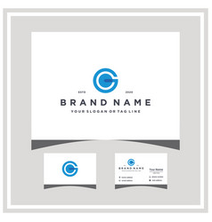 Letter g logo design and business card vector