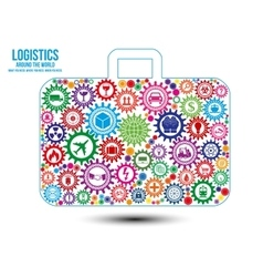 Logistics services around the world design concept vector image