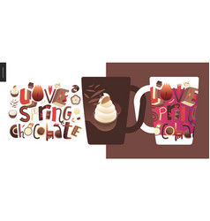 love spring chocolate vector image
