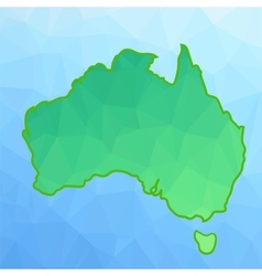 Map of Australia vector image