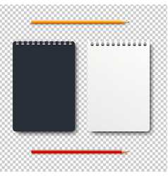 notebook isolated with two pencil transparent vector image