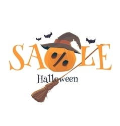 Original concept poster Halloween discount sale vector image