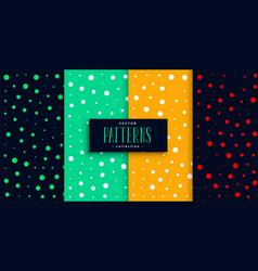 polka style colorful circles pattern set design vector image