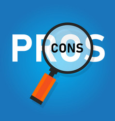 pros cons concept on decision making process vector image
