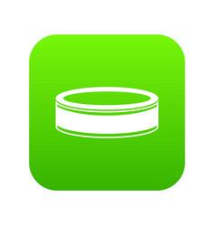 puck icon digital green vector image