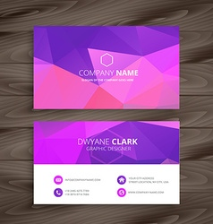 Purple business card with abstract shape vector