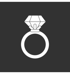 Ring black and white vector image vector image