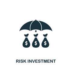 Risk investment icon creative element design from vector