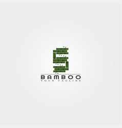 S letter bamboo logo template creative design vector