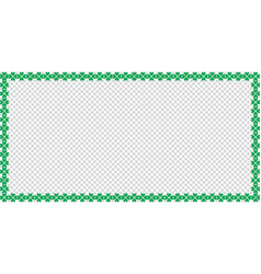Saint patricks day rectangle border made of clover vector