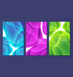 Set abstract minimalist covers brochure vector