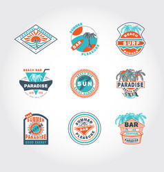 set concept badge vector image