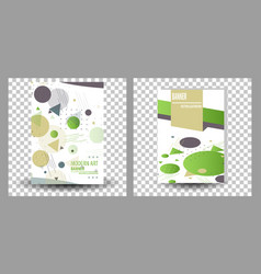 Set of unique artistic summer card with bright vector