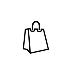 shopping bag line icon in flat style for apps ui vector image