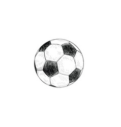 soccer ball icon soccer ball sketch hand drawing vector image