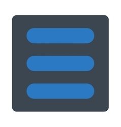 Stack flat smooth blue colors rounded button vector