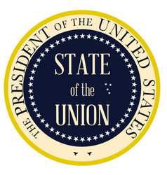 state of the union vector image