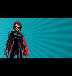 Superheroine battle mode horizontal vector