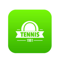 tennis icon green vector image
