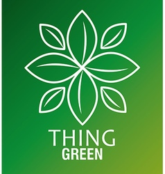Thing green design over green background vector image