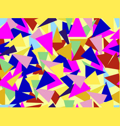 Triangles seamless pattern in the style vector