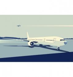Urban airport vector