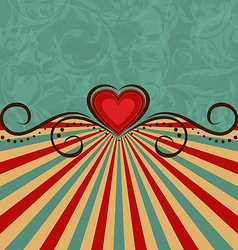 Valentines Day vintage background vector image