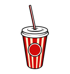 Vintage colorful cinema soda cup template vector