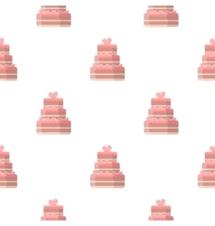 Wedding cake icon of for web vector image