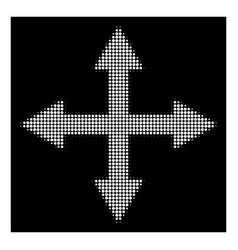 White halftone quadro arrows icon vector