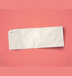 white paper ad on old paper background vector image