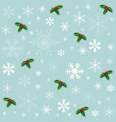 winter snowflakes blue background vector image