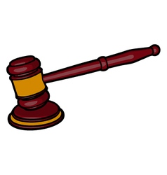 wooden judge gavel vector image