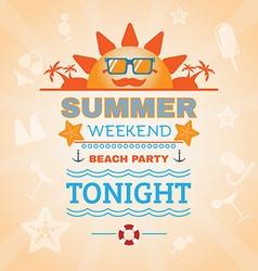 Beach party banner vector
