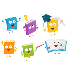 collection of book characters vector image vector image