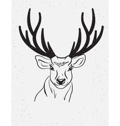 Deer head isolated on white background vector image vector image